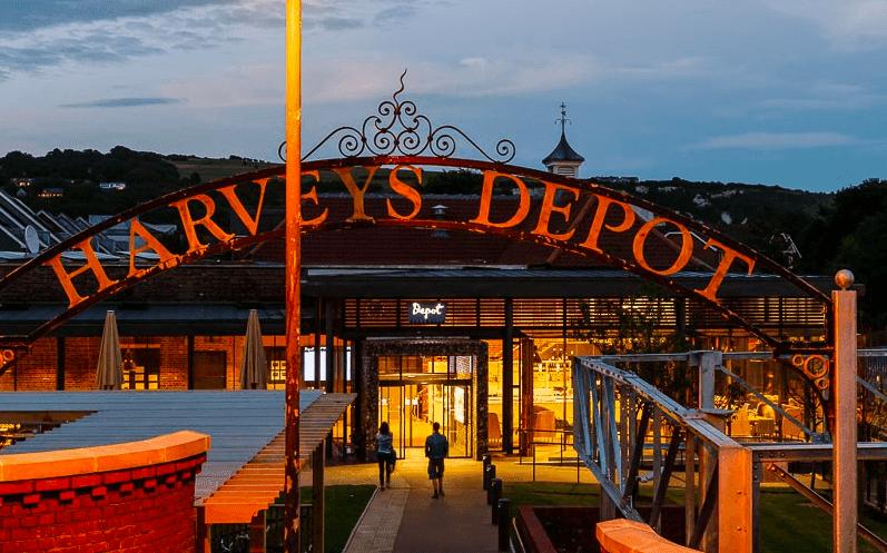 Depot at night