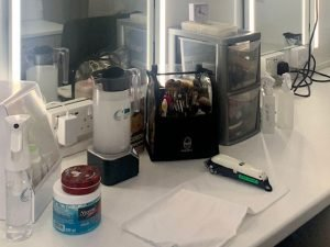Jackie's make-up station